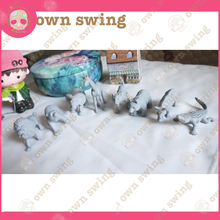 Animals shape designs erasers customization Cartoon TPR paint erasers