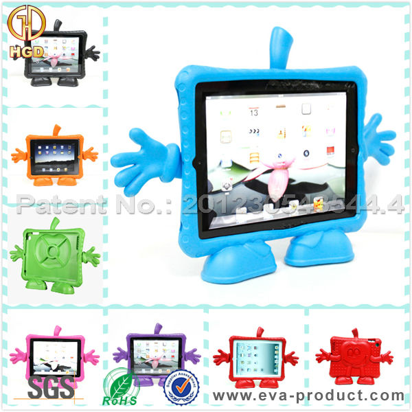 EVA cute cartoon accept trade assurance anti-shock case for iPad 2