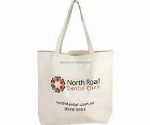 China promotional tote bag 100% organic cheap cotton bag