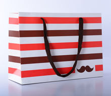 Printed custom made luxury paper shopping bag