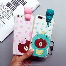 cute soft lovely bear animal carton girl cell phone case silicone case for iphone 6 7 8 X, for Samsung galaxy S2 S4 note7