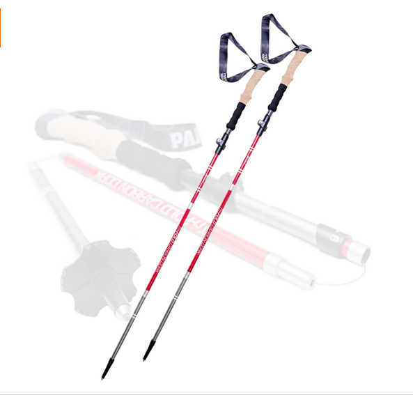 Alibaba top ten hot sale 3 Section walking sticks 6061 Aluminum Straight Hiking Poles