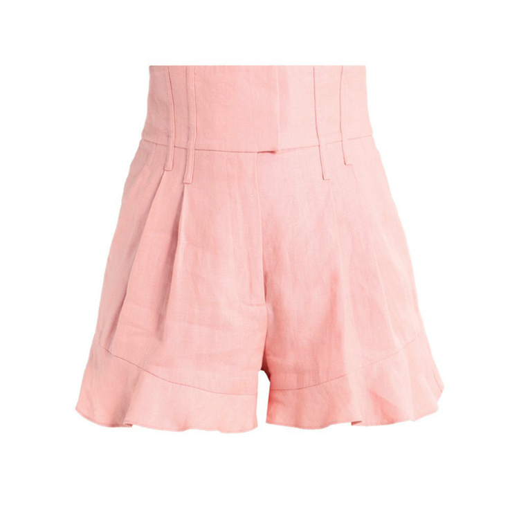 New Style Corset Waist Pink Ladies Shorts