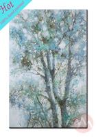 High quality tree sample picture of canvas painting for hotel decor