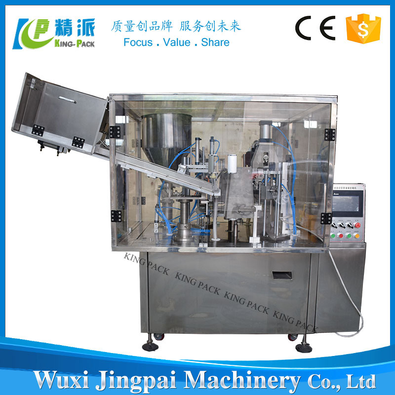 Hot sale automatic ointment plastic tube filling sealing machine with tail cutting