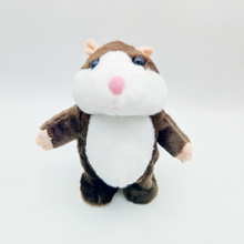 New Christmas soft plush toy animal pet repeat talking speaking mimicry hamster