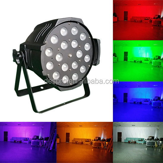 18x18w rgbwa uv Dmx Par 64 led stage lighting ,battery powered up light