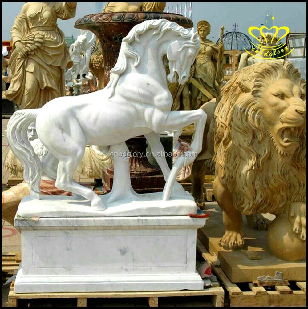 High quality good Magical marble statue carved horse