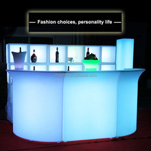 modern home bar counter design/led plastic portable bar counter furniture