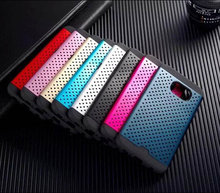 High Quality TPU + Aluminum Metal Heat Radiation Mesh Phone Case For Samsung Galaxy S6 Edge Cover