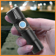 1000LM Q5 LED Rechargeable USB Flashlight 3-mode Zoomable Mini Torch