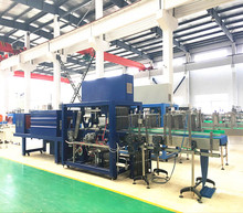 Hot shrink film wrapper and 25 Packages per minute high speed bottle wrapping packing machinery