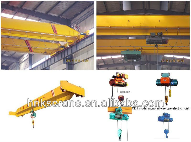 LH crane/double girder overhead crane with traveling electric hoist