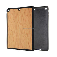 Real Natural Cherry Wood Cases with Durable TPU Frame Full Protective Wood Back Cover for iPad