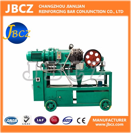Construction steel rebar coupler threading machine