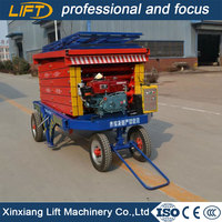 Four-wheel mobile hydraulic personnel man lift for sale