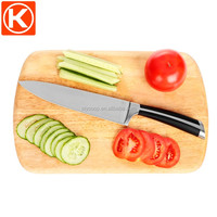 cutting board set include 1pc rubber wood cutting board and 1pc chef knife