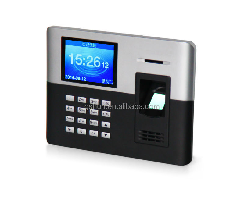 Biometric time attendance machine finger print time attendacne 1000 capacity free attendance software