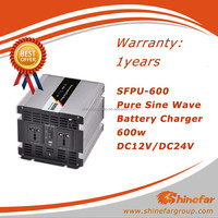600W 12v 24v dc to ac 110v 220v pure sine wave power inverter with charger