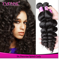 Factory price top quality unprocessed remy virgin peruvian hair