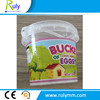 High level heat transfer printed plastic buckets with lid with handle