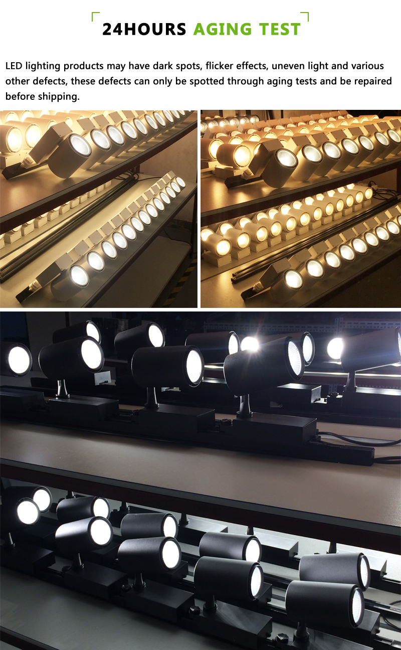 100lm/w Ra90 led showroom shop lighting track lighting 4 3 lines led track light 25 w
