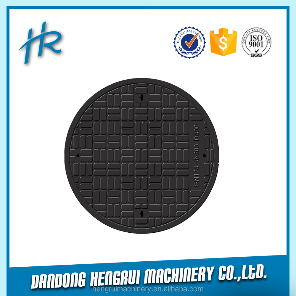 ductile iron manhole cover en124 d400, locking manhole cover