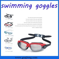2015 hot sale big lens professional silicone frame cheap swimming goggles