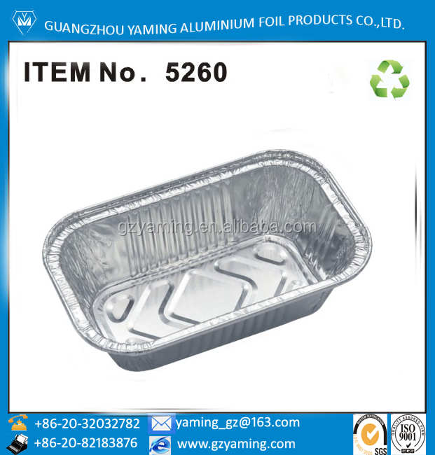 foil container bakery use aluminium foil baking loaf pan