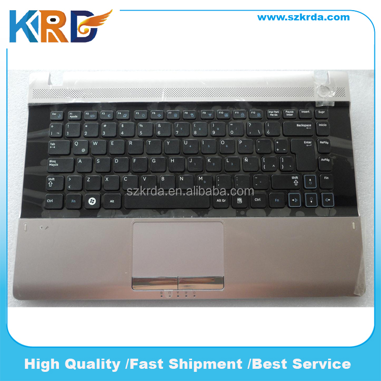 Original new SP Spanish keyboard for Samsung RV411 RV415 RV420 E3420 Laptop Keyboard with Topcase Palmrest