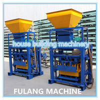 semi-automatic machinery used hydraulic brick machine de fabrication for sale