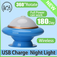 UFO shape Rotatable Automatic PIR Sensor Day Night Light Switch