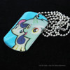manufacturing OEM famous pony dog tag with epoxy
