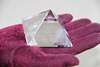 Quartz Rock Crystal and perfect Carved Crystal Pyramid