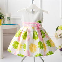 2016 Kids clothing factory new style baby fancy puffy princess for girls dresses