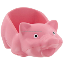 factory supplier promotional gift Custom Animal Stress Ball pu Pig Cell Phone Holder Stress Toy