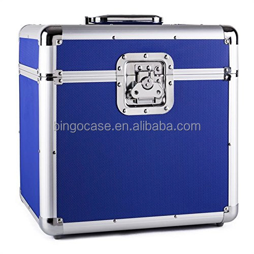 Customized aluminum vinyl records case DVD storage box
