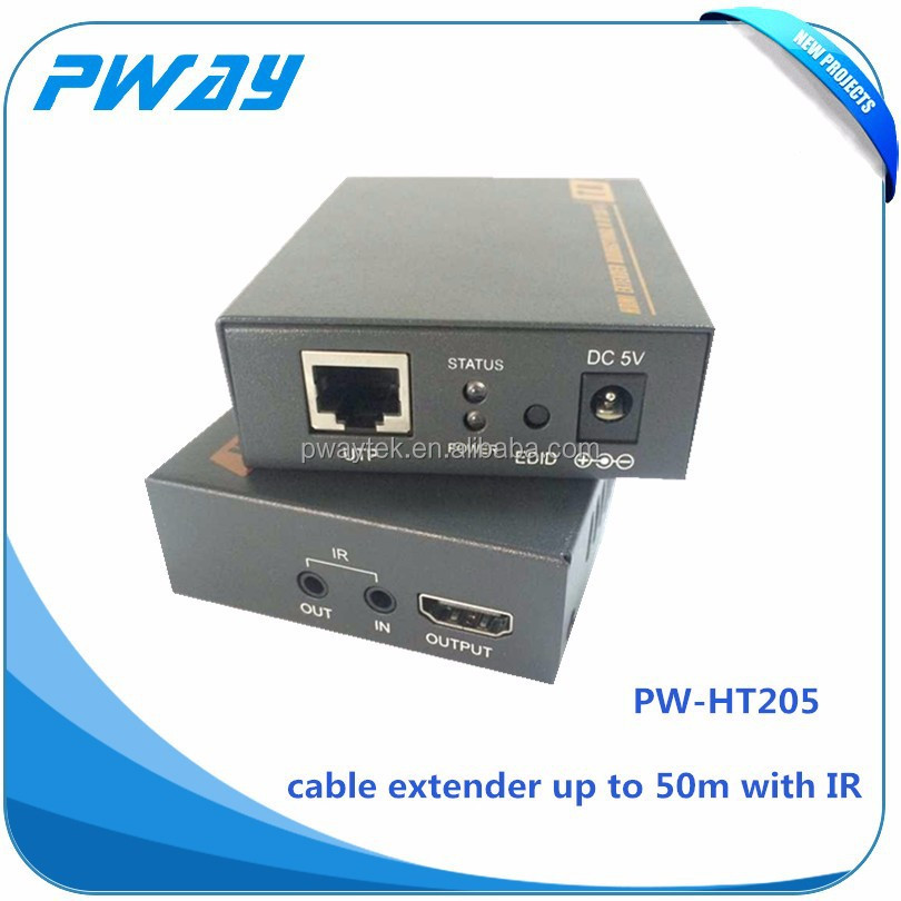 hdmi media converter use for ethernet extender utp cable support IR support EDID and 3D up to 50m