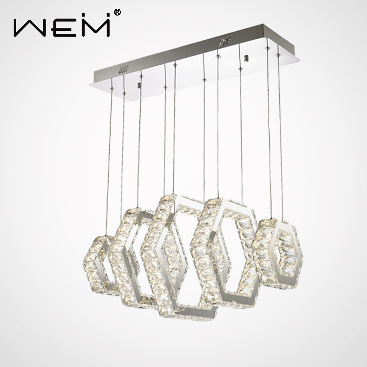 60w big ceiling chandelier,decor k9 crystal square chandeliers pendant <strong>lights</strong> for hotel lobby