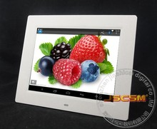 Factory supply 8inch picture frame webcam digital photo frame with android 4.4 os system support online video chat