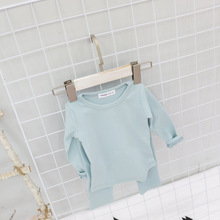 B22145A Korean baby boys and girls home wear clothing sweet candy color thermal underwear
