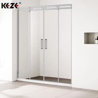 Bathroom Fiberglass Panel Wall Enclosed Shower Kits Unit With Doors & Acrylic Shower Screen With CE Certificate