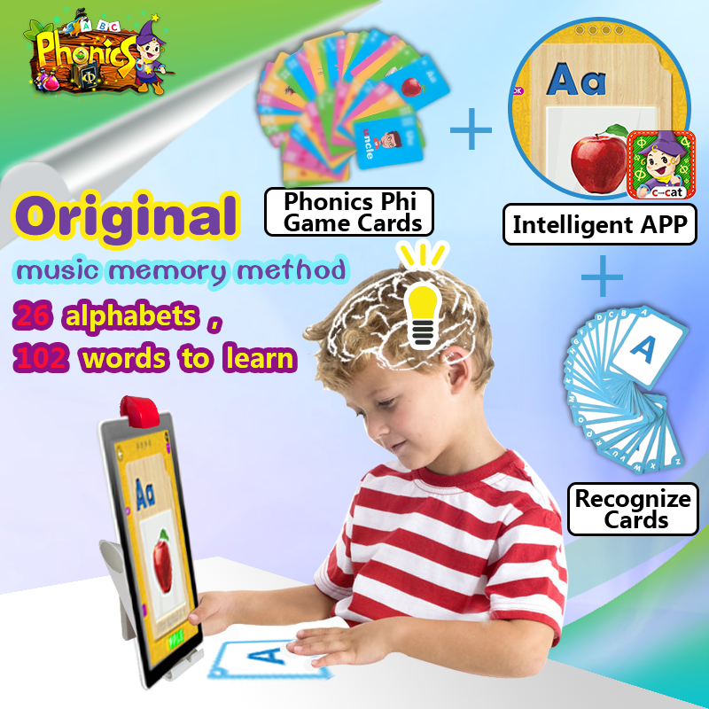 Kids learn English alphabet and phonics coloring education puzzle game pad