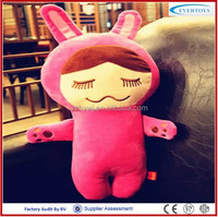 Rose red rabbit bolster soft plush toys