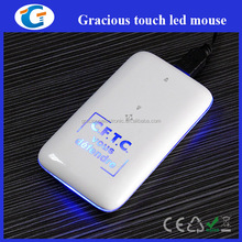 Custom touch pc mouse with LED logo