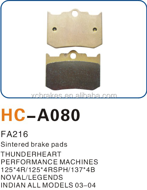 high temperature 800 degree resistanc TOP quality motorcycle brake pads for INDIAN Nova Legends Thunderheart