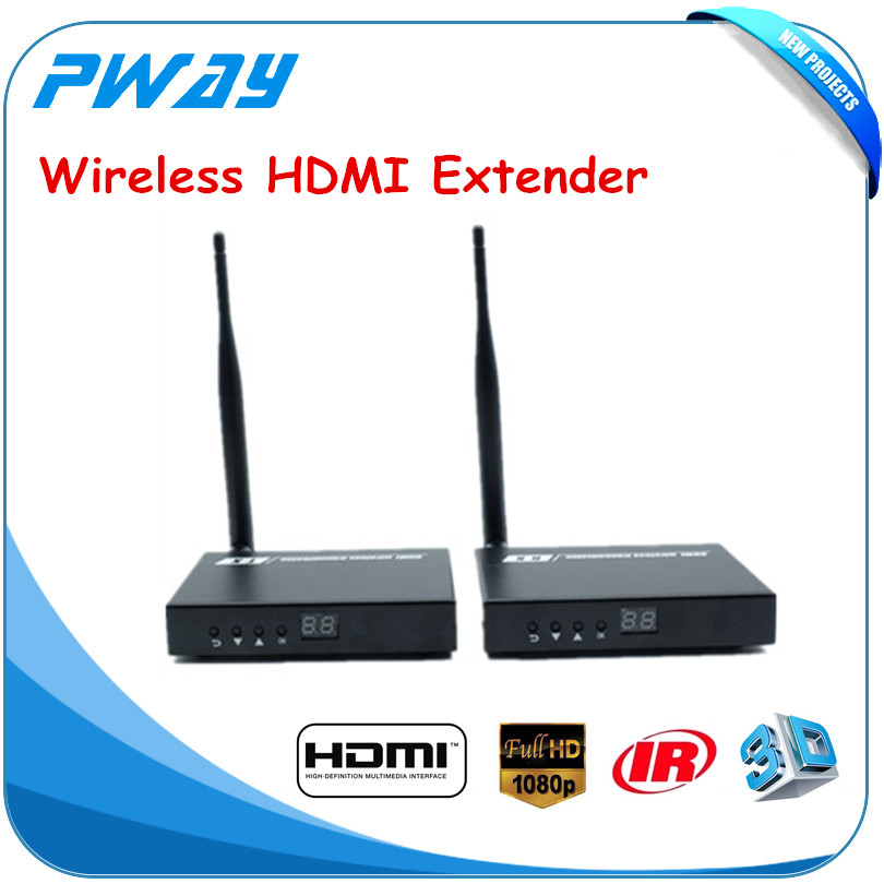 Pway 200m Wireless video HDMI extender transmitter Supporting Full HD 1080P with IR Signal Transmission