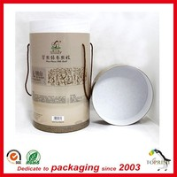 high end quality clothing packaging box large tube with rope handle for blanket package CMYK printing china supplier fancy price