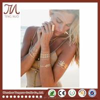 Wholesales Gold Metallic Tattoo Sticker Body Art Supplier
