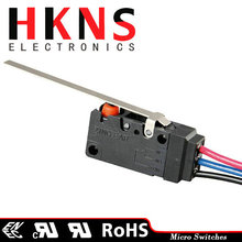Long straight lever micro limit switch IP67 SPDT UL ENEC